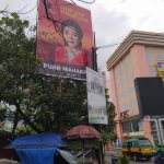 Baliho raksasa Puan Maharani yang tampak di salah satu kawasan Kota Cimahi.