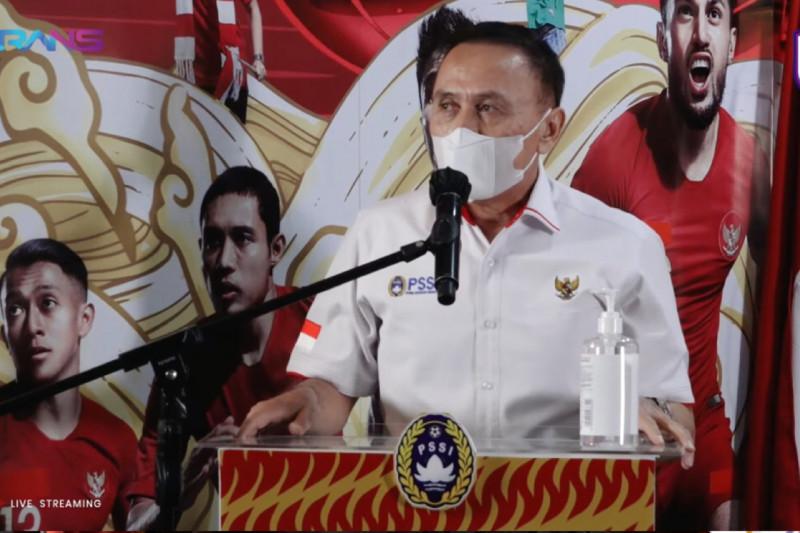Ketua Umum Persatuan Sepak Bola Seluruh Indonesia (PSSI), Mochamad Iriawan, dalam konferensi pers silaturahmi bersama RANS Cilegon FC, Senin (3/5/2021). (youtube.com/RANS Entertainment)