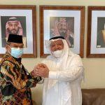 Pelaksana Tugas Direktur Jenderal Penyelenggaraan Haji dan Umrah Khoirizi bertemu dengan Duta Besar Arab Saudi untuk Indonesia Esham Altsaqafi. ANTARA/HO-Kemenag