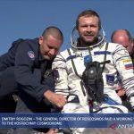 kru film rusia syuting di luar angkasa