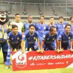 Skuad Persiba Balikpapan dalam laga perdana Liga 2 melawan Kalteng Putra di Stadion Batakan, Balikpapan, Kalimantan Timur. ANTARA/Novi Abdi