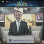 Tangkapan layar Menteri Investasi atau Kepala Badan Koordinasi Penanaman Modal (BKPM) Bahlil Lahadalia saat menyampaikan keynote speech pada The 3rd West Java Investment Summit (WJIS) 2021 secara virtual, Kamis (21/10/2021) (ANTARA/Youtube Bank Indonesia)