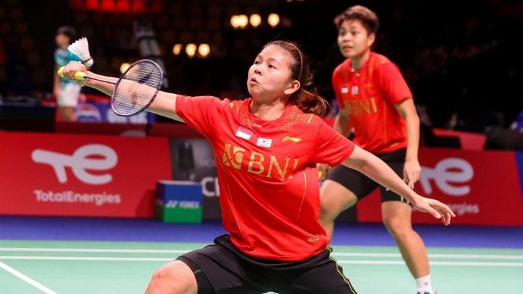 Greysia Polii/Arpiyani Rahayu saat berlaga melawan Jerman pada penyisihan Grup A Piala Uber 2020. (BWF/Badminton Photo)