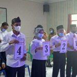 Para calon kades Desa Pasirnanjung pada tahap penomoran, Senin (11/10).