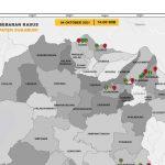 Peta perkembangan kasus COVID-19 di Kabupaten Sukabumi, Jabar, Selasa (5/10). (ANTARA/HO-Satgas Percepatan Penanganan COVID-19 Kabupaten Sukabumi)