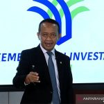 Tangkapan layar - Menteri Investasi/Kepala Badan Koordinasi Penanaman Modal (BKPM) Bahlil Lahadalia dalam konferensi pers paparan realisasi investasi di Jakarta, Rabu (27/10/2021). ANTARA/Youtube BKPM TV - Invest Indonesia/pri.