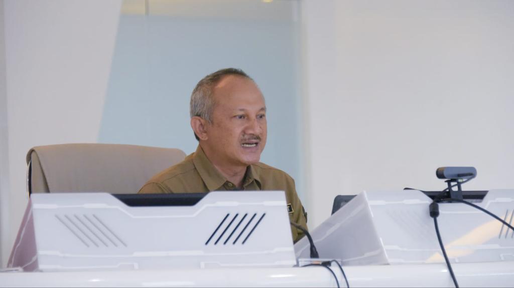 Sekretaris Daerah (Sekda) Provinsi Jabar Setiawan Wangsaatmaja saat memaparkan program-program unggulan Pemda Provinsi Jabar