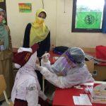 Ilustrasi tes acak swab antigen terhadap siswa Sekolah Dasar (SD). (Istimewa)