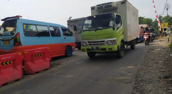 Perlintasan Kereta Api di Jalan Gatot Subroto Kota Cimahi yang akan dibangun Underpass.