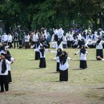 Upacara Peringatan Hari Santi Nasional Tahun 2021 di Lapangan Upakarti, Soreang, Jumat (22/10)