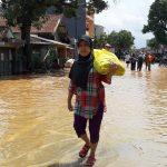 ILUSTRASI: Bencana banjir di wilayah Kecamatan Baleendah, beberapa waktu lalu. (Yully S Yulianty/Jabar Ekspres)