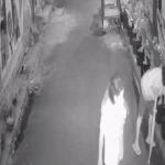 Aksi ibu-ibu mencuri tanaman terekam CCTV. (Istimewa)