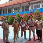 Tim DPKP saat monitoring pelaksanaan PTMT smpn 6 depok